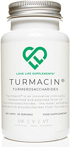 TURMACIN Turmerosaccharides by LLS | Water-Soluble Bioactive Polysaccharides from Turmeric | 500mg x 60 Capsules | for Joint & Cartilage Health | Love Life Supplements