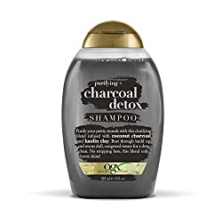 top 10 detox hair shampoo OGX Purifying + Charcoal Detox Shampoo, 13 oz.