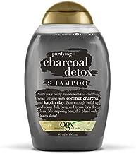 OGX Purifying + Charcoal Detox Shampoo for Buildup Removal and Light Nourishment, No Sulfates, 13 fl oz