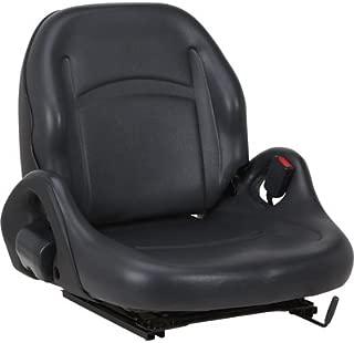 K & M Universal Replacement Forklift Seat - Black, Model# 8001