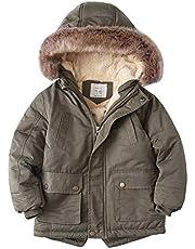 YYW 女の子 防寒着 コート ジャケット アウター キッズ 子供服 男の子 長袖 裏起毛 あったか ポケット付き ふわふわ もこもこ 秋 冬服 普段着 おしゃれ