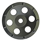 CS Unitec 7' Premium PCD Concrete Grinding Wheel for Removal of Coatings, Adhesives, Paint, Epoxies & More- Carbide Cup Grinding Wheel for Concrete, Cement, Granite, Stone, Marble -Made in Germany