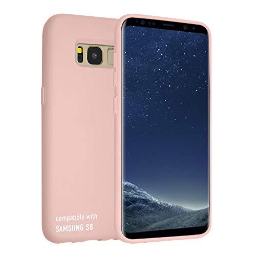 SmarTect Silikon Case für Samsung Galaxy S8 - Perfekte Passform - rutschfeste Oberfläche der Hülle - Weich gefütterte Innenseite - Silikoncase in Rosa Pink