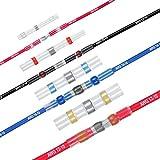 Conector de cable de soldadura, tubo termorretráctil, conector de alambre (50, rojo – Ø 3 mm – 0,5 – 1,5 mm²)