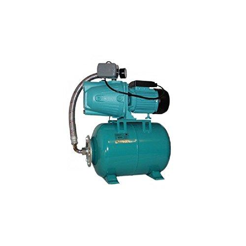 Pompe d'arrosage JET50 + manomètre, interrupteur + ballon 100L, POMPE DE JARDIN pour puits 600 W, 3000l/h, 230V, JET50100L