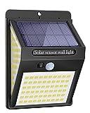 Luce Solare LED Esterno, 140LED Luci Solari Lampade Faretti Solari a LED da Esterno Sensore di Movimento IP65 Impermeabile 3 Modalità per Giardino, Parete Wireless Risparmio Energetico