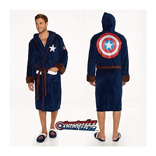 Unbekannt Groovy Marvel Captain America Bademantel, Polyester, Blau