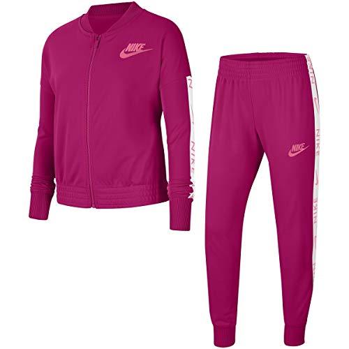 Nike G NSW TRK Suit Tricot Tuta da Ginnastica, Fireberry/(Sunset Pulse), M Bambina