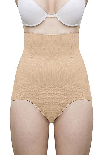Two Dots Wire No Rolling Down Bodysuit Tummy Tucker Women's Shapewear - Skin (XL)