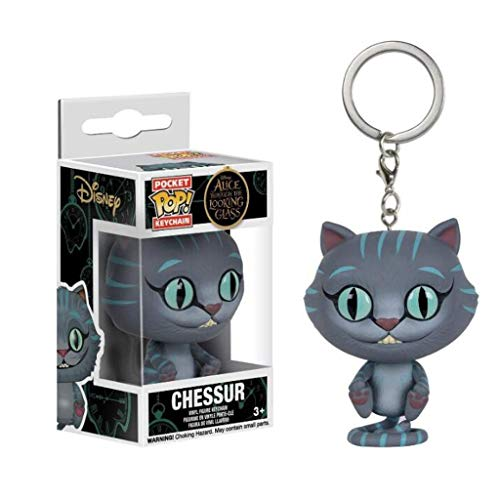 Lxyy YF Cheshire Cat Pop Llavero Figura Alicia en Exquisito Figura PVC Pop de colección y Decoración