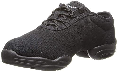Capezio unisex-adult Black Canvas Dance Sneaker, 8.5 M US