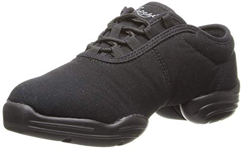 Capezio unisex-adult Black Canvas Dance Sneaker, 8 M US