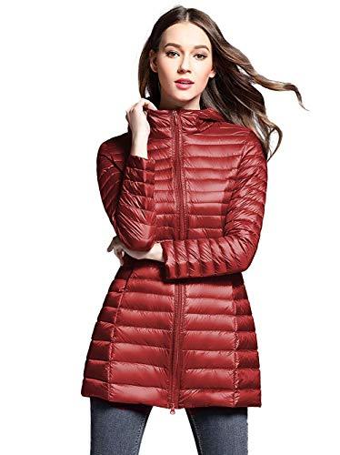 HuntDream Chaqueta de plumón Ultraligera para Mujer Abrigo abrigado de Invierno