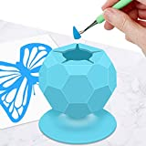 Suctioned Vinyl Weeding Scrap Collector, Silicone Suction Cups for Vinyl Disposing, Craft Weeding Tools Holder Set Kit for Vinyls Weeder, Crafters(Blue)