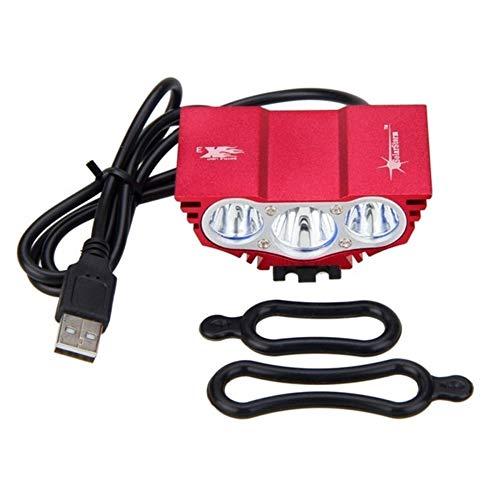 Luz de Bicicleta Recargable USB 3XT6 Impermeable LED de luz de Bicicletas 10000LM Frente Cabeza de la Bici luz de la Noche de Ciclo de la lámpara USB 5V Faro lámpara Solamente sin batería