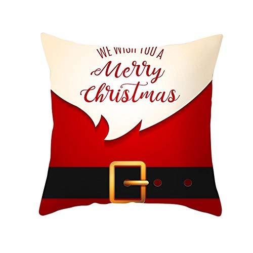 GZQRZA 2 kussenslopen decoratieve kussensloop/kussenslopen Kerstmis Uniek ontwerp voor binnendecoratie, 45 x 45 cm