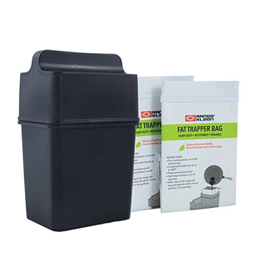 Fat Trapper System/Grease Storage Container with TWELVE Disposable Grease Bags