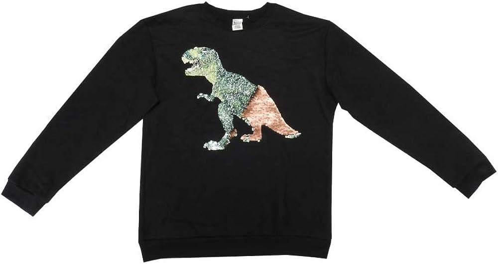 Members Mark Boys Size 14/16 L/S Dino Pullover Sweater, Black
