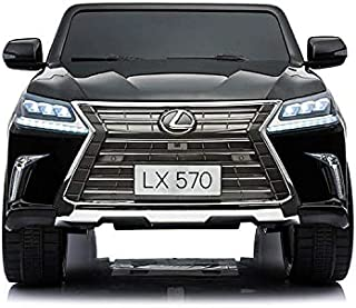 PlayArena Ride on Lexus570 Toddler 4WD Remote Control With 2 Leather Seats and Touchscreen Black