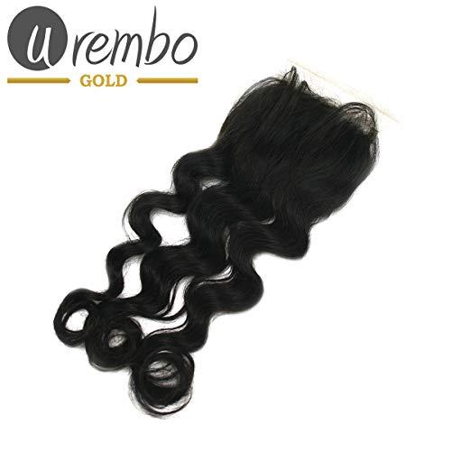 Urembo Gold Free-Parting Closure – Brazilian Remy Human Hair Extension Loose Wave Cheveux brésiliens