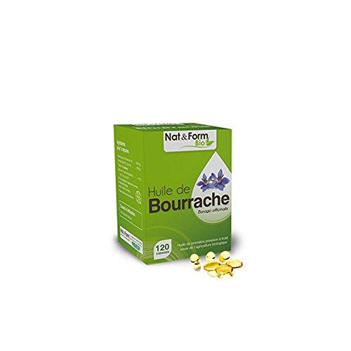 Nat & Form - Nat&form Huile De Bourrache Bio 120 Capsules