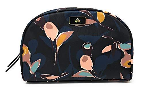 Kate Sapde New York Dawn Medium Dome Cosmetic Make-Up Travel Bag (Paper rose black multi)