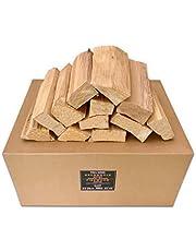 PINI Grillhout zonder schors beuken 20 kg brandhout ca. 25 cm voor pizzaoven grill rookoven open haard vuurschaal
