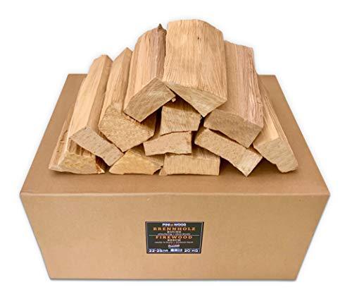 PINI Grillholz OHNE RINDE Buche 20 Kg Brennholz ca. 25 cm für Pizzaofen Grill Smoker Kamin Feuerschale