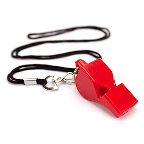 Crown Sporting Goods Ultra Loud High Pitch Red Plastic Whistle