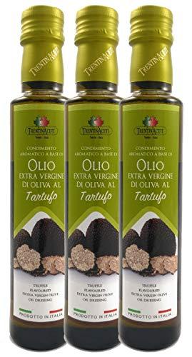 Extra Natives Olivenöl mit natürlichen Trüffelaroma - 3x250 ml - Italienisches Trüffel Olivenöl in höchster Qualität - TrentinAceti - kaltgepresst