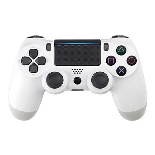 TOPmontain Controlador sem fio para PS4, controlador de jogo para Playstation 4 / Pro/Slim, joystick de gamepad com vibração dupla/giroscópio de seis eixos/conector de áudio/alto-falante,branco