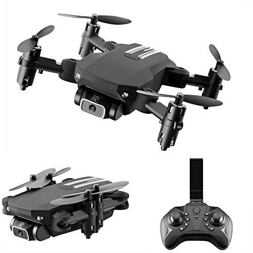 LYHLYH La Photographie aérienne 4K UAV, pour Les débutants Pliable Pixel HD Mini Appareil Pliant Jouet Hauteur Fixe Commande à Distance Quatre Axes Avions 13 Minutes Temps de vol,Noir