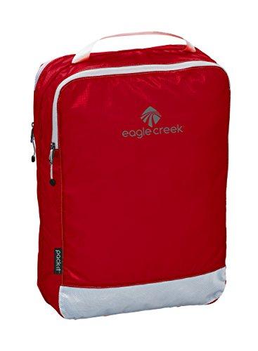 Eagle Creek Packtasche Pack-It Specter Clean Dirty Cube Medium platzsparender Wäschesack für die Reise Kofferorganizer, 35 cm, 14 l, rot/Volcano rot