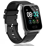 L8star Fitness Tracker Heart Rate Activity Tracker with 1.3 inch IPS Color Screen Long Battery Life Smart Watch with Sleep Monitor Step Counter Calorie Counter for Women Men (Black)