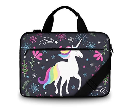 12 13' Canvas Laptop Carrying Shoulder Bag with Adjustable Strap & Extra Pocket Size: 13-13.3'