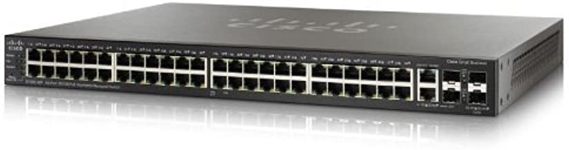 Cisco Switch 48-Port 10/100 PoE Stackable Managed Switch with 4 Gigabit Ethernet Port (SF500-48P-K9-G5)
