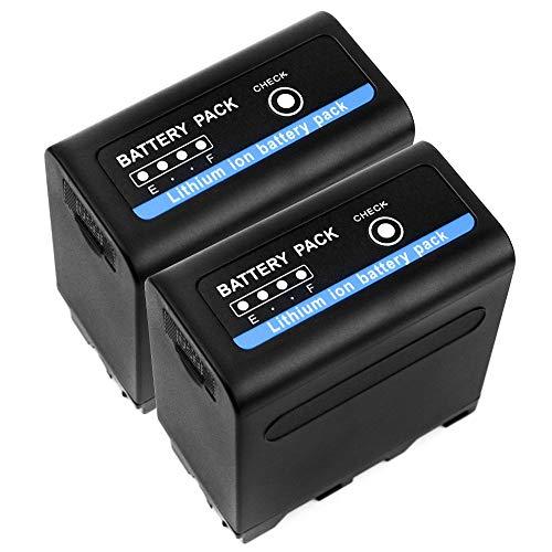 subtel 2X Batería Premium Compatible con Sony DSR-PD150, PD170, FDR-AX1, DCR-VX2100, GV-D200, HDR-FX7e, FX1, FX1000, Incl. USB-out 2.4A - NP-F960 NP-F970 10200mAh bateria Repuesto Pila