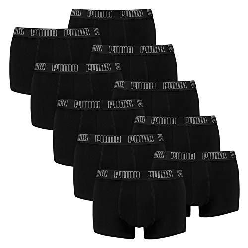 PUMA Herren Basic Trunk Boxershort 10er Pack Black (001) Größe:M
