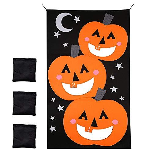 THE TWIDDLERS Halloween Hängende Bean Bags Wurf Spiel Kinder - 3er Set - Ideales Gesellschaftsspiel für Erwachsene & Kinder - Halloween Party, Weihnachten & Geburtstag