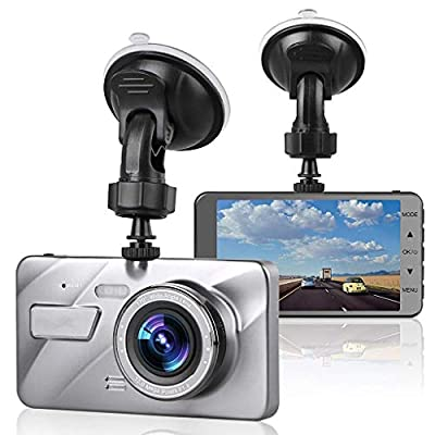 XIANWEI Car Driving Recorder,Parking Monitor,Full HD 1080P 4 Inch IPS Screen Driving Recorder,170° Wide Angle from XIANWEI