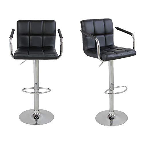 KJGHJ SSJ-891 60-80 cm 6 assegni rotondi cuscini sgabelli da bar con bracciolo nero sgabello bar sedia