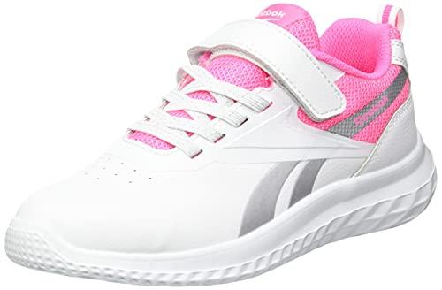 Reebok Rush Runner 3.0 SYN Road Running Shoe, White/Electro Pink/Silver Metalllic, 33 EU