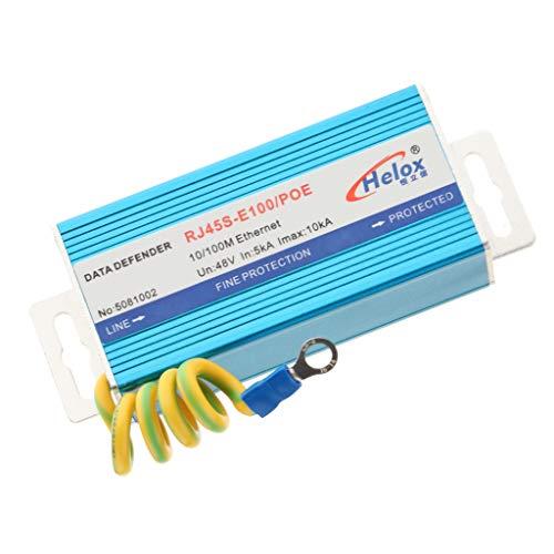 IPOTCH RJ45 Ethernet Surge Protector Poe + 100M LAN Thunder Lighting Surge Protection