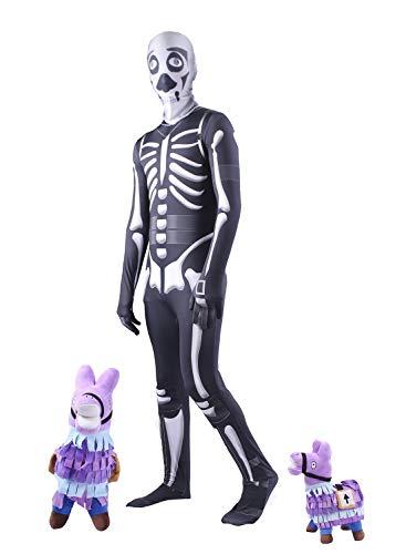 Clown Republic- Skeletor Traje, Multicolor (Clownrepublic 33306/06)