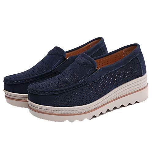 Zapatos de Mujer Tacón de cuña Moda Hueco Primavera Verano Resbalón en Uso Diario Todos los días Zapatos Gruesos Ligeros Transpirables