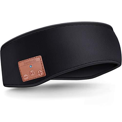 Schlaf Kopfhörer Bluetooth Stirnband, Drahtlose Sport Stirnband Kopfhörer, Winter Stirnband Ohrenwärmer, Musik schlafen Stirnband für Training, Joggen, Yoga (schwarz)
