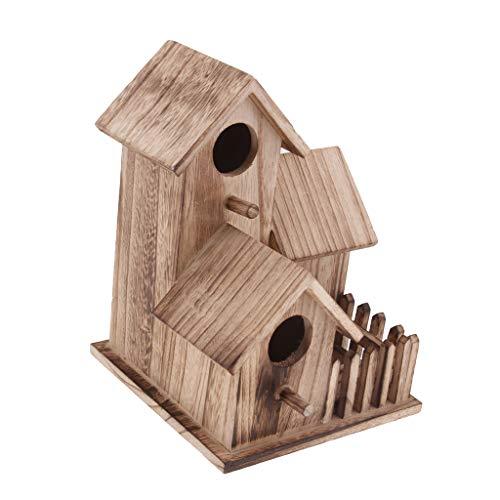 HomeDecTime Exklusives Vogelhaus Aus Holz Für Vogelhäuschen - Mehrfarbig, 2