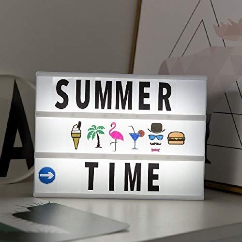 Kindernachtlampje LED-licht alfabet handgemaakte puzzel Light Box decoratie nachtlampje uitgangsdecoratie met zwart-wit kaart (roze doos roze strepen)