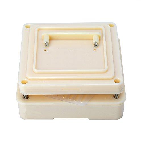 Capsuleplaten leegmaken met strooier 100 plastic gaatjes Vitaminen Koffiepoeder vulmiddel Handmatig vulgereedschap (geel)