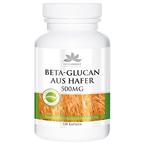 Betaglucano 500mg – Betaglucano de avena – 70% de polisacáridos – Vegano – 120 cápsulas